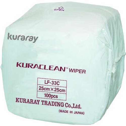 クラレ 不織布製ワイパー クラクリーンワイパー 25cm×25cm 3000枚入り [LF-33C] LF33C 販売単位:1 送料無料