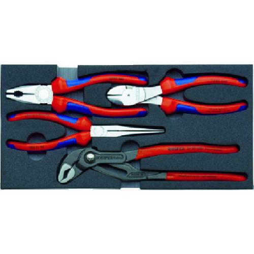 KNIPEX 002001V01 プライヤーセット ウレタンフォームトレイ付 [002001V01] 002001V01 販売単位:1 送料無料