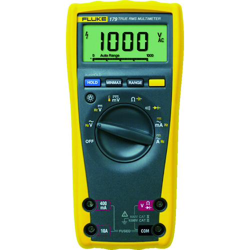FLUKE デジタル・マルチメーター(真の実効値・バックライト仕様) [179] 179 販売単位:1 送料無料