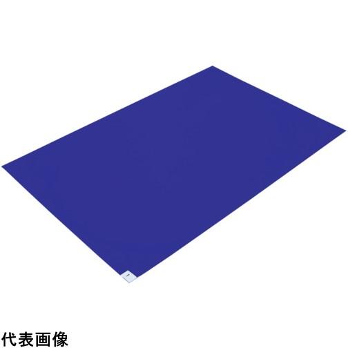 TRUSCO トラスコ中山 粘着クリーンマット 600X1200MM ブルー (10枚入) [CM6012-10B] CM601210B 販売単位:1 送料無料