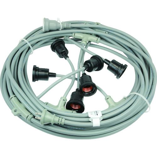 【15日限定クーポン配付中】HASEGAWA 分岐ケーブル ESTシリーズ 20m 防水ソケット×6 [EST1-20M-6L] EST120M6L 販売単位:1 送料無料