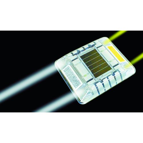 キャットアイ ルミナスアイ・マイティ ソーラー式常灯 両面 黄/白 [LE-260-2A/W] LE2602AW 販売単位:1 送料無料