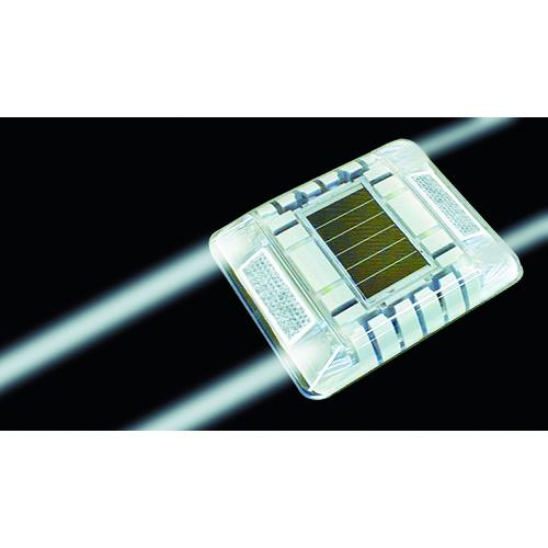 キャットアイ ルミナスアイ・マイティ ソーラー式常灯 両面 白 [LE-260-2W] LE2602W 販売単位:1 送料無料