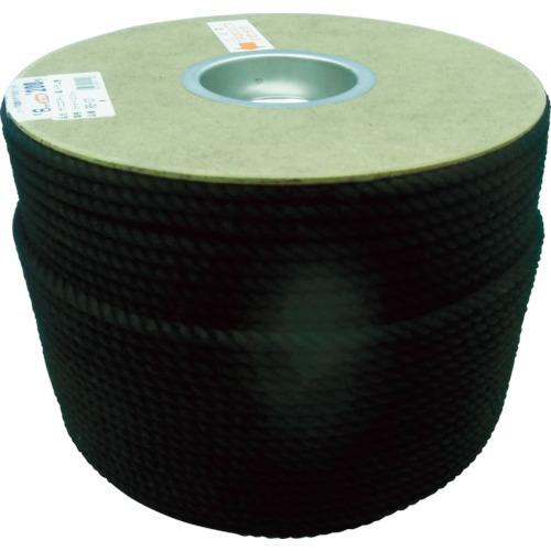 ユタカメイク ポリエステルロープ ドラム巻 6φ×200m 黒 [PRS-101] PRS101 販売単位:1 送料無料
