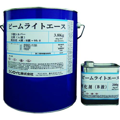シンロイヒ ビームライトエース 下塗りシルバー 4kg [2001KG] 2001KG 販売単位:1 送料無料