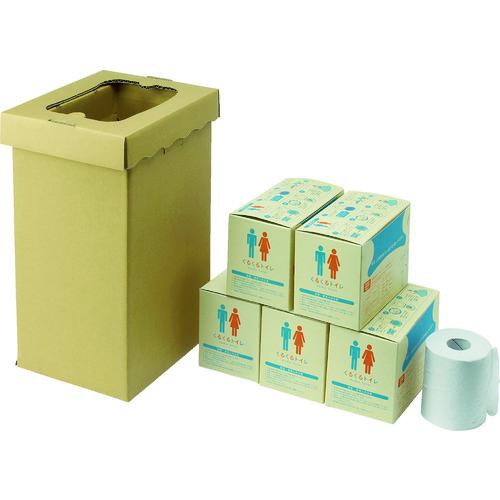 【15日限定クーポン配付中】sanwa 非常用トイレ袋 くるくるトイレ100回分 [400-785] 400785 販売単位:1 送料無料
