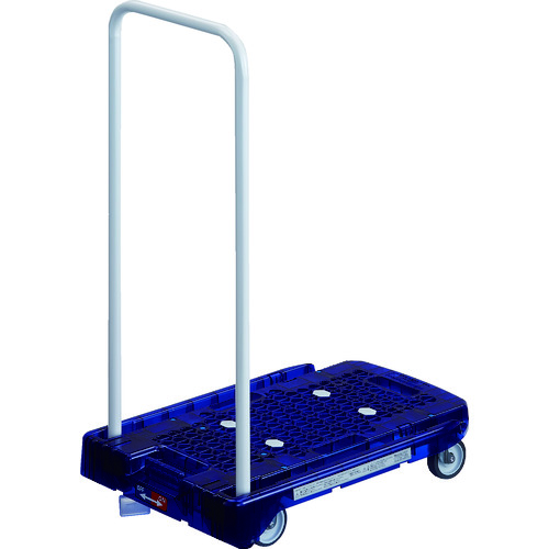 TRUSCO トラスコ中山 樹脂台車 アクロキャリー PC製 省音車輪 600X390 ブルー透明 S付 [AC-1PC-B-S] AC1PCBS 販売単位:1 送料無料