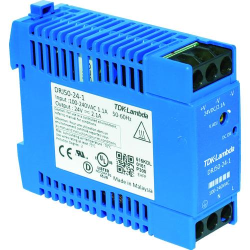 TDKラムダ DINレール取付専用ユニット型電源 DRJ 50W ブロック端子 [DRJ50-24-1] DRJ50241 販売単位:1 送料無料