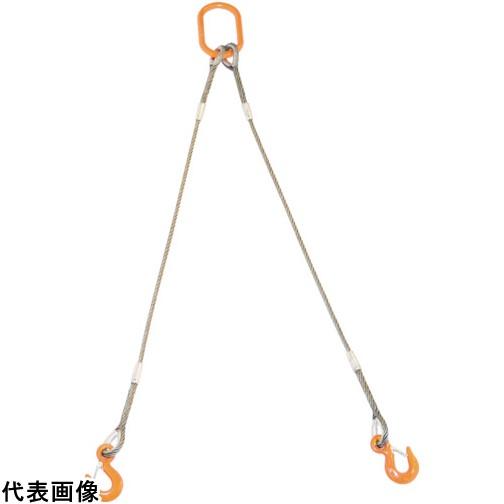 TRUSCO トラスコ中山 2本吊りWスリング フック付き 9mmX2m [GRE-2P-9S2] GRE2P9S2 販売単位:1 送料無料