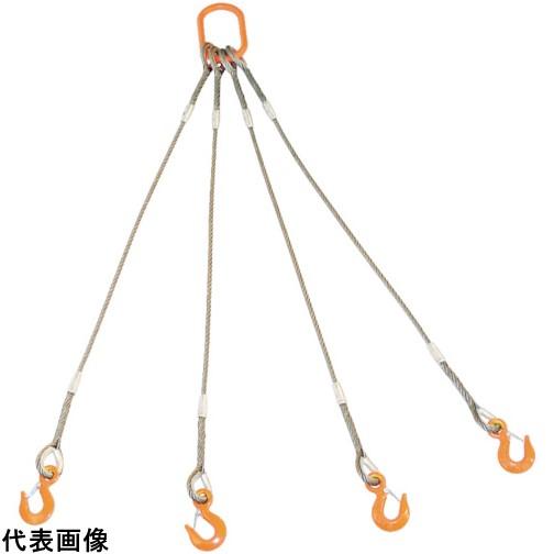 TRUSCO トラスコ中山 4本吊りWスリング フック付き 9mmX1.5m [GRE-4P-9S1.5] GRE4P9S1.5 販売単位:1 送料無料