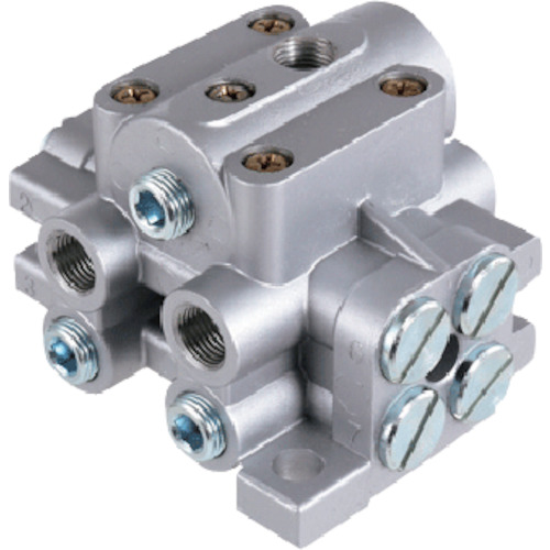 パルサールブ 遠隔設置アクセサリ グリース分配弁(3口) [HU-3RS] HU3RS 販売単位:1 送料無料