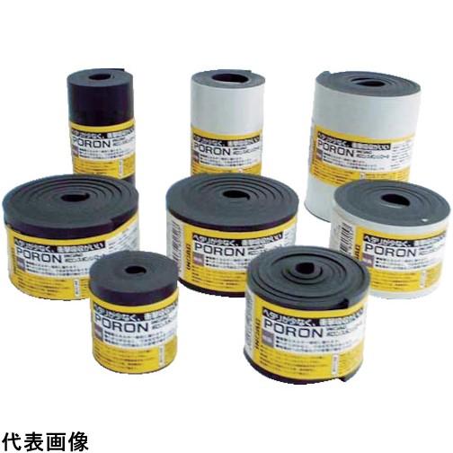 イノアック マイクロセルウレタンPORON 黒 10×100mm×7M巻(テープ [L24-10100-7M] L24101007M 販売単位:1 送料無料