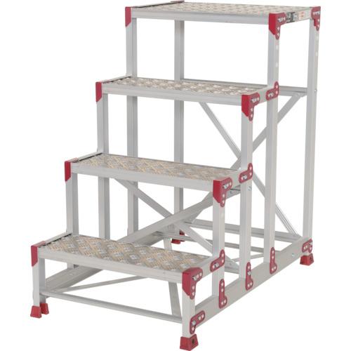 ピカ 作業台 ZG-P型縞板仕様 4段 幅60cm高さ100cm [ZG-4610P] ZG4610P 販売単位:1 送料無料