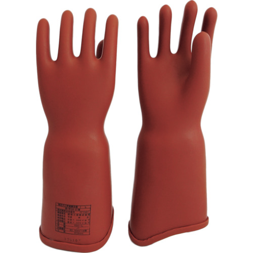 ワタベ 高圧ゴム手袋410mm胴太型L [550L] 550L 販売単位:1 送料無料