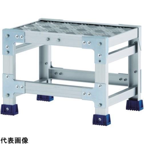 アルインコ 作業台(天板縞板タイプ)1段 天板寸法500×400mm高0.25m [CSBC125S] CSBC125S 販売単位:1 送料無料