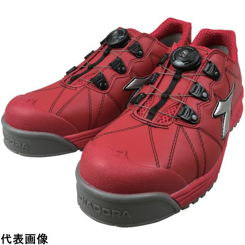 ドンケル 株 保護具 安全靴 作業靴 プロテクティブスニーカー ディアドラ 高級品 FC383-265 4321 販売単位:1 26.5cm 送料無料 フィンチ DIADORA安全作業靴 店 赤 銀 FC383265