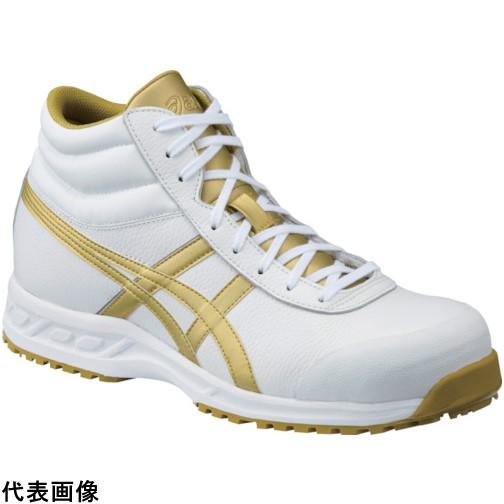 アシックス ウィンジョブ 71S ホワイト×ゴールド 24.0cm [FFR71S.0194-24.0] FFR71S.019424.0 販売単位:1 送料無料
