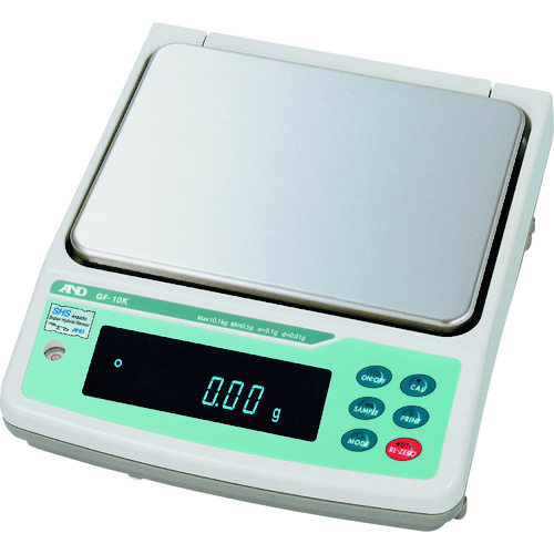 A&D 防塵防水型中量級天びん0.01G/10.1KG [GF10K] GF10K 販売単位:1 送料無料