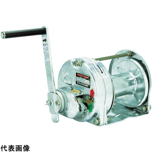 マックスプル 手動ウインチ(溶融亜鉛メッキ付き) [GM-1-GS] GM1GS 販売単位:1 送料無料
