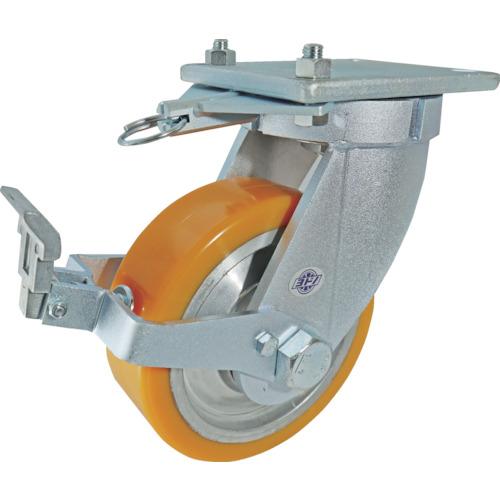 ヨドノ 超重量用高硬度ウレタン自在車ストッパー・旋回ロック付 2000kg用 [HDUJ200ST-TL] HDUJ200STTL 販売単位:1 送料無料