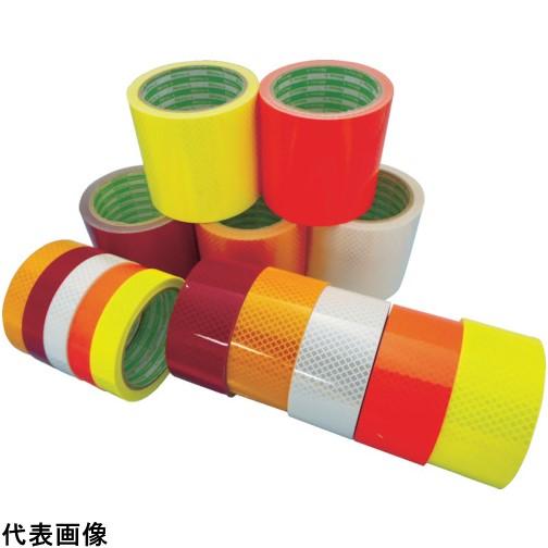 日東エルマテ 高輝度プリズム反射テープ(蛍光色)90mmX5M オレンジ [HTP-90OR] HTP90OR 販売単位:1 送料無料