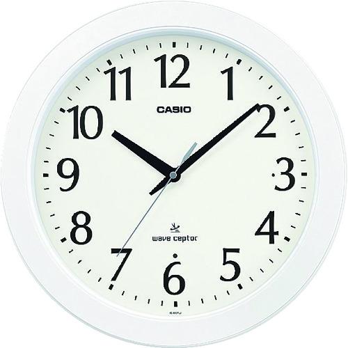 カシオ 電波掛け時計 直径353mm ホワイト [IQ-900FLJ-7JF] IQ900FLJ7JF 販売単位:1 送料無料