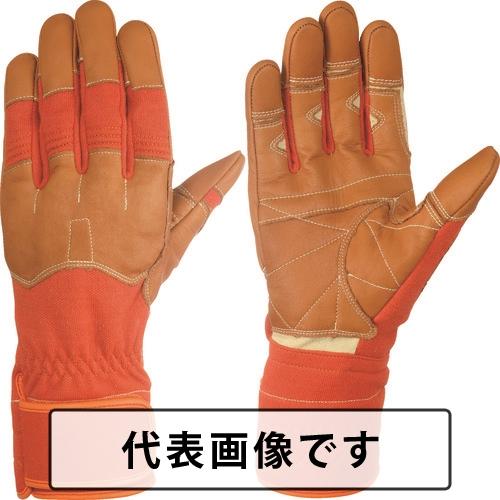 シモン 災害活動用保護手袋(アラミド繊維手袋) KG-160オレンジ [KG160-L] KG160L 販売単位:1 送料無料