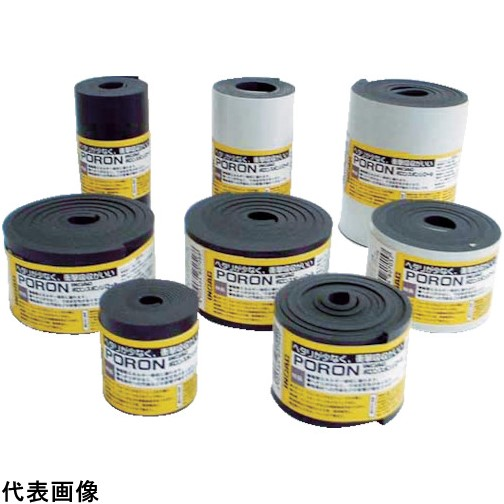 イノアック マイクロセルウレタンPORON 黒5×500×15M巻(テープ無) [L24-5500-15M] L24550015M 販売単位:1 送料無料