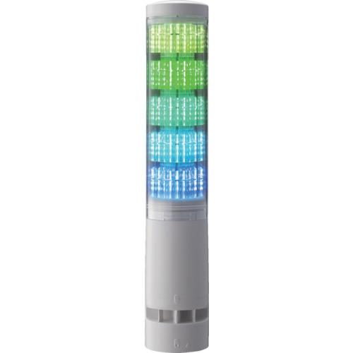 パトライト LA6型積層情報表示灯Φ60 L型ポール・キャブタイヤ・ブザーあり [LA6-5DLJWB-RYGBC] LA65DLJWBRYGBC 販売単位:1 送料無料