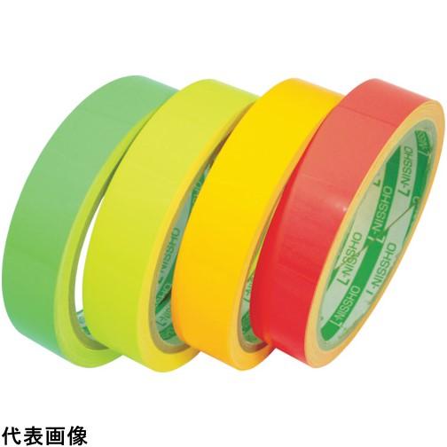 日東エルマテ 蛍光テープ 200mmX5m レモンイエロー [LK-200LY] LK200LY 販売単位:1 送料無料