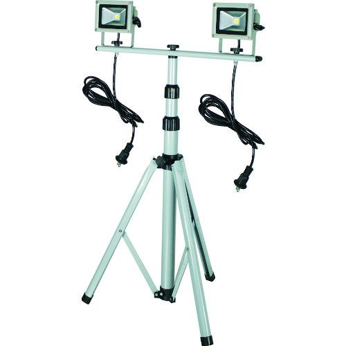 日動 LED作業灯 10W 二灯式三脚 [LPR-S10LW-3M] LPRS10LW3M 販売単位:1 送料無料