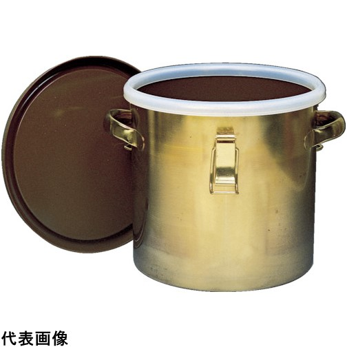 フロンケミカル フッ素樹脂コーティング密閉タンク(金具付) 膜厚約50μ 25L [NR0378-005] NR0378005 販売単位:1 送料無料