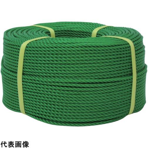 ユタカ ロープ PEロープ巻物 9φ×200m グリーン [PE-53] PE53 販売単位:1 送料無料