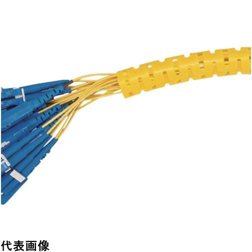 パンドウイット 電線保護チューブ スリット型スパイラル パンラップ 束線径12.0Φmm 61m巻き 黄 PW50F-T4 [PW50F-T4] PW50FT4 販売単位:1 送料無料