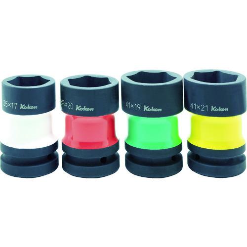 コーケン カラー塗装コンビソケットセット [PW8P/4] PW8P4 販売単位:1 送料無料