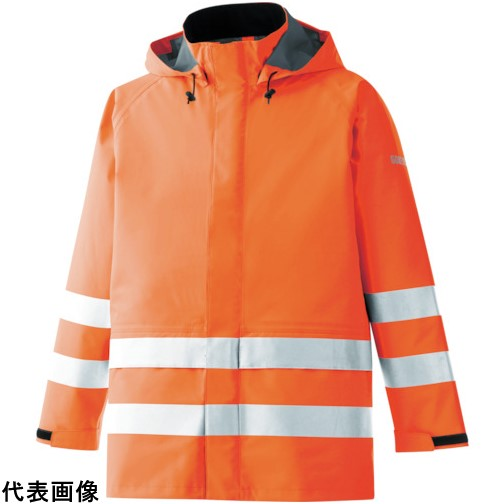 ミドリ安全 雨衣 レインベルデN 高視認仕様 上衣 蛍光オレンジ L [RAINVERDE-N-UE-OR-L] RAINVERDENUEORL 販売単位:1 送料無料