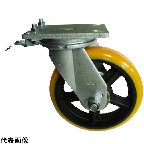 ヨドノ 重量用高硬度ウレタン自在車200φ旋回ロック付 [SDUJ200TL] SDUJ200TL 販売単位:1 送料無料