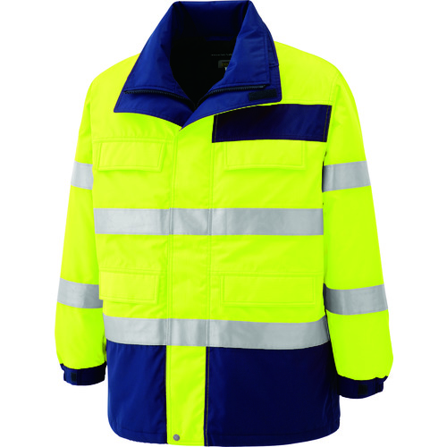 ミドリ安全 高視認性 防水帯電防止防寒コート イエロー 4L [SE1124-UE-4L] SE1124UE4L 販売単位:1 送料無料