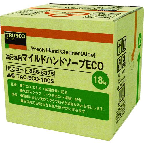 TRUSCO トラスコ中山 マイルドハンドソープ ECO 18L 詰替 バッグインボックス [TAC-ECO-180S] TACECO180S 販売単位:1 送料無料