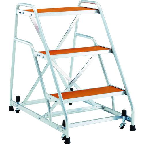 TRUSCO トラスコ中山 アルミ製作業用踏台 マグネット保持キャスター 高さ0.9m3段 [TAF-93MG] TAF93MG 販売単位:1 送料無料