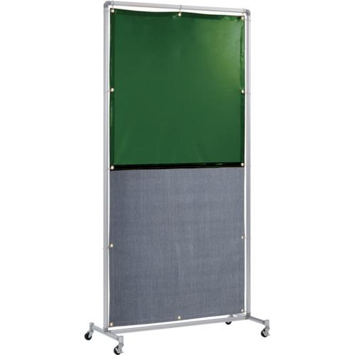 吉野 遮光火花兼用衝立(グリーン×A種シート)1×2 単体キャスター [YS-12SC-G-BW] YS12SCGBW 販売単位:1 送料無料