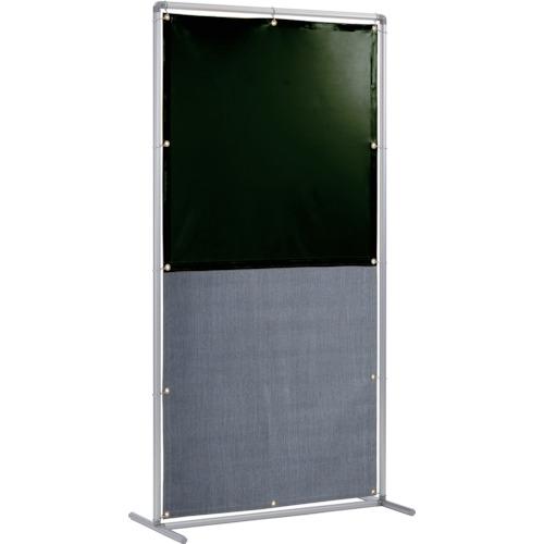 吉野 遮光火花兼用衝立(ダークグリーン×A種シート)1×2 単体固定足 [YS-12SF-DG-BW] YS12SFDGBW 販売単位:1 送料無料