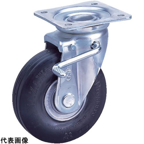 カナツー ゼロプレッシャータイヤ 自在金具S付 許容荷重200kgf 車輪径D250mm [ZP-OS 10X2.75HS-GY] ZPOS10X2.75HSGY 販売単位:1 送料無料