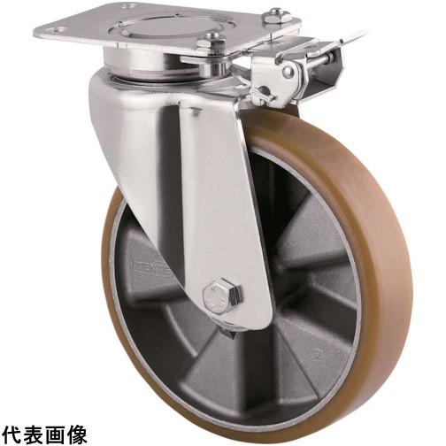 テンテキャスター 重荷重用高性能旋回キャスター(ウレタン車輪) φ160 自在式(方向ロック付) [3641ITP160P63 CONVEX] 3641ITP160P63CONVEX      販売単位:1 送料無料