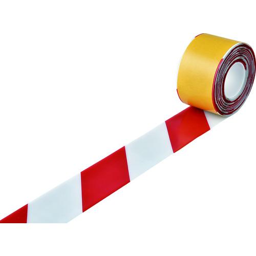緑十字 高耐久ラインテープ 白/赤 100mm幅×10m 両端テーパー構造 [403088] 403088             販売単位:1 送料無料