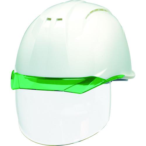 DIC 透明バイザーヘルメット(シールド面付) AP11EVO-CSW KP 白/グリーン [AP11EVO-CSW-HA6-KP-W/G] AP11EVOCSWHA6KPWG       販売単位:1 送料無料