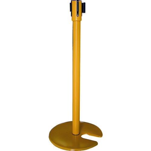 カーボーイ ベルト付きポールくぼみ型 イエロー [BPK-04] BPK04             販売単位:1 送料無料