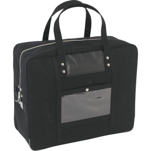 SANEI 帆布メール用ボストン(LL)馬蹄錠金具付 黒 [BTLL-U-01] BTLLU01      販売単位:1 送料無料