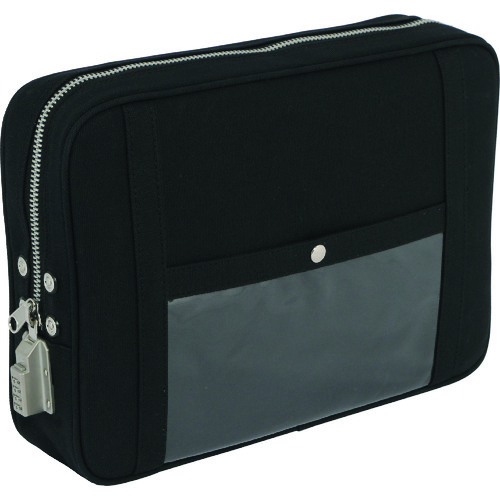 SANEI 帆布メール用ポーチ(LL)SED-1錠付 黒 [PLL-SED-01] PLLSED01      販売単位:1 送料無料
