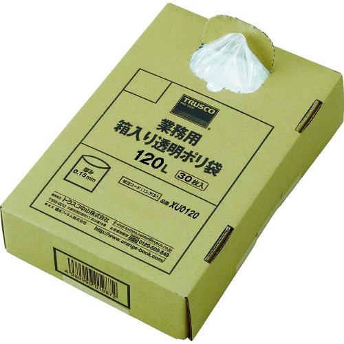 TRUSCO トラスコ中山 まとめ買い 業務用ポリ袋 透明・箱入 0.15×120L (30枚入) [XU0120] XU0120             販売単位:1 送料無料
